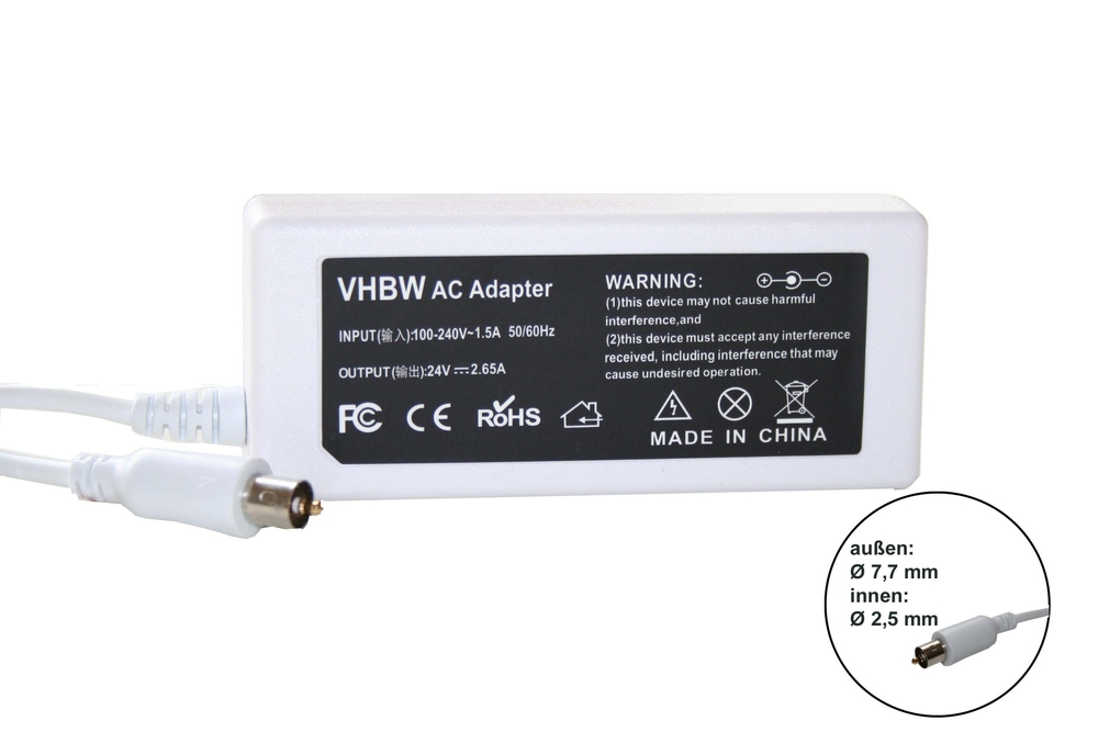 VHBW AC adaptér Apple 24V, 1,5A, 7.7 x 2.5mm